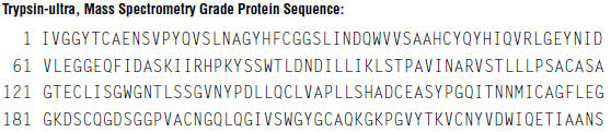 trysin-ultra, mass spectrometry grade protein sequence