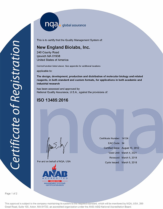 Iso Certifications Neb