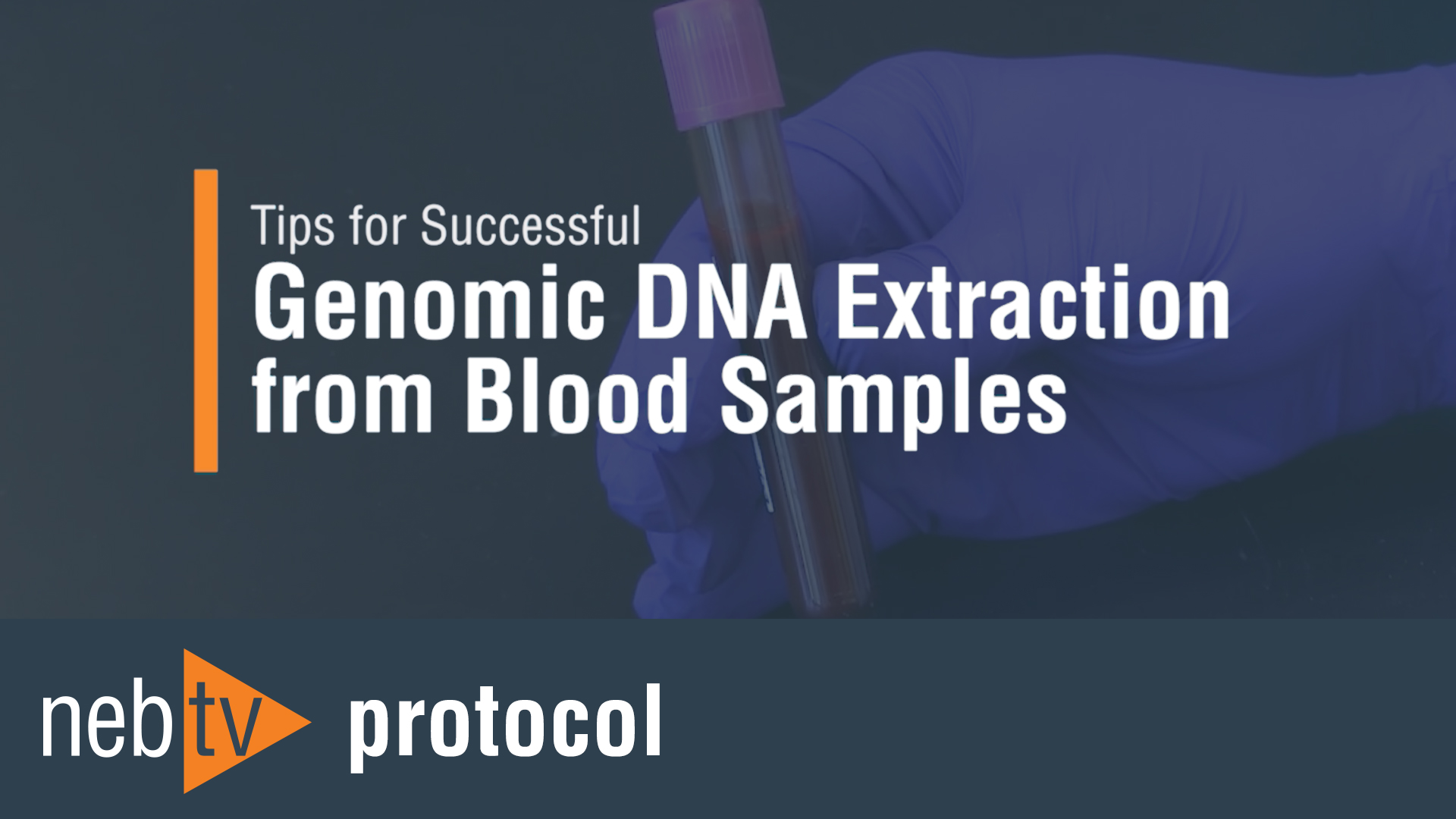 Tips for Successful GenomicDNAExtractionfromBloodSamples