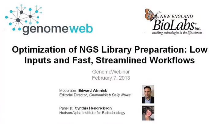 NEBNext® Sample Preparation for Next Generation Sequencing | NEB